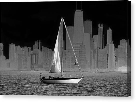 Sailing In Lake Michigan Canvas Print