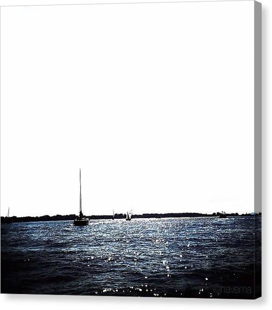 Minimalism Canvas Print - Sailing by Natasha Marco