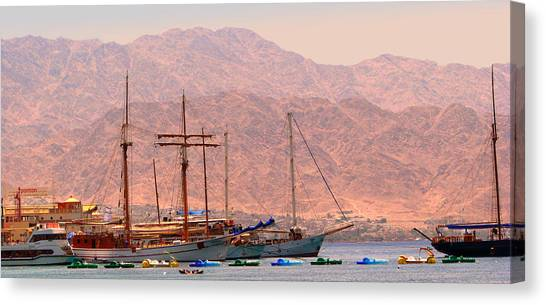 Sailing Ships Canvas Print by Yula Sander
