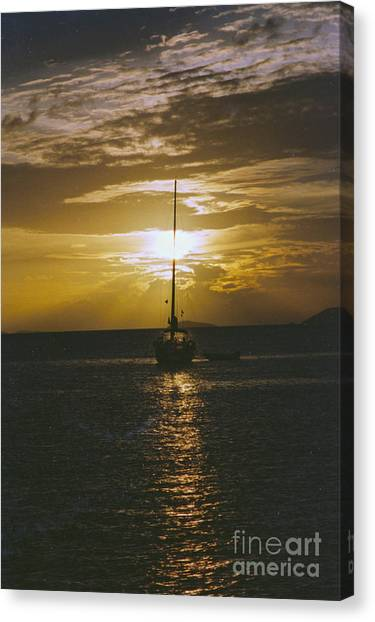 Sailing Sunset Canvas Print