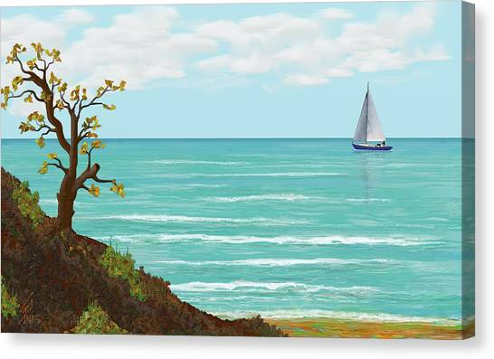Sailing Canvas Print by Tony Rodriguez
