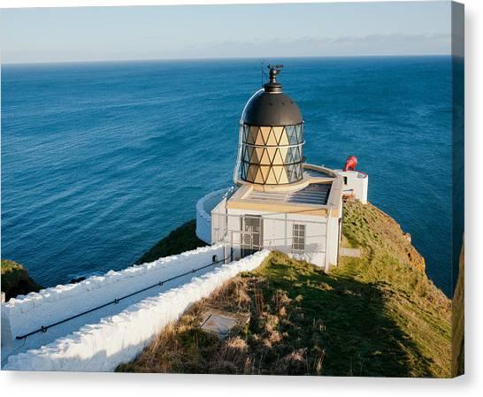 Saint Abb's Head Lighthouse And Foghorn Canvas Print