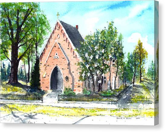 Saint Andrew's Episcopal Church Canvas Print by Patrick Grills