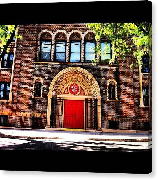 Schools Canvas Print - Saint Anthony School In The Bronx by Luis Alberto