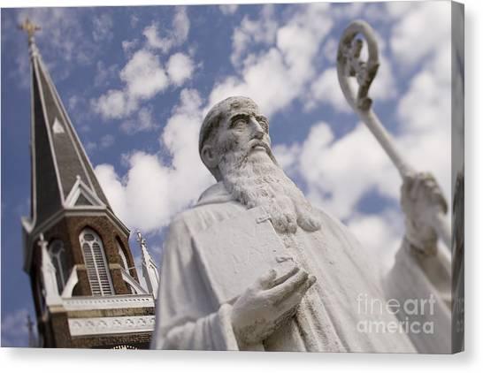 Belmont University Canvas Print - Saint Benedict At Belmont Abbey College by Patrick Schneider