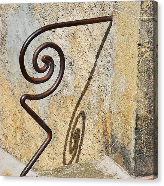 Spiral Canvas Print - Saint-bertrand-de-comminges  #safeguard by Val Lao