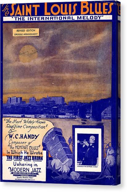 St. Louis Blues Canvas Print - Saint Louis Blues by Mel Thompson