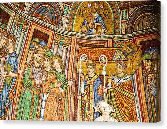 Saint Mark's Basilica Mosaic Canvas Print by David Waldo