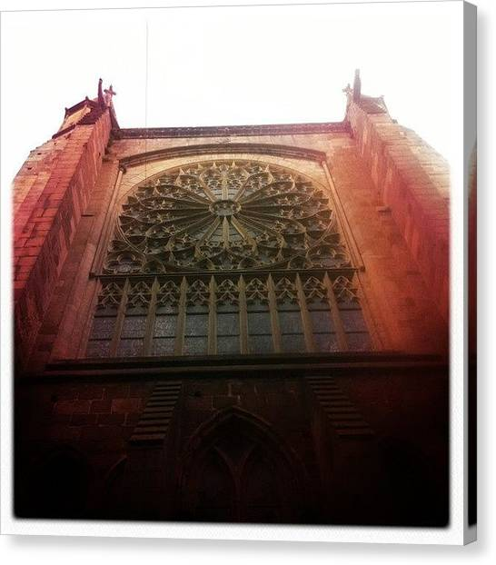 Gothic Art Canvas Print - Saint Marlo Cathedral #france #french by Luke Cameron