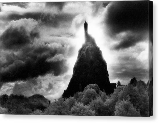 Silver Moonlight Canvas Print - Saint Michaels Church by Simon Marsden