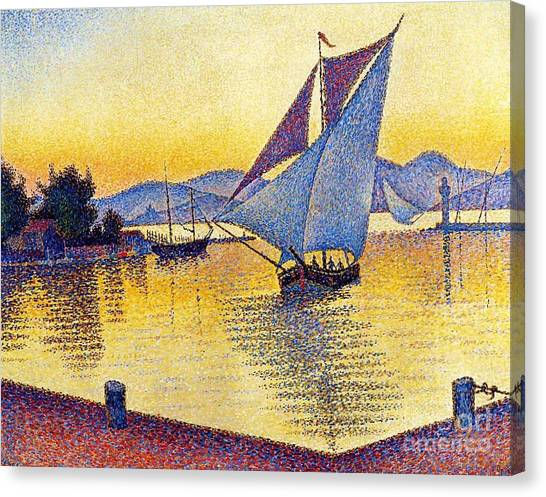 Saint Tropez At Sunset Canvas Print by Pg Reproductions