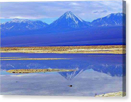 Salt Lake At The Atacama Desert Chile Canvas Print