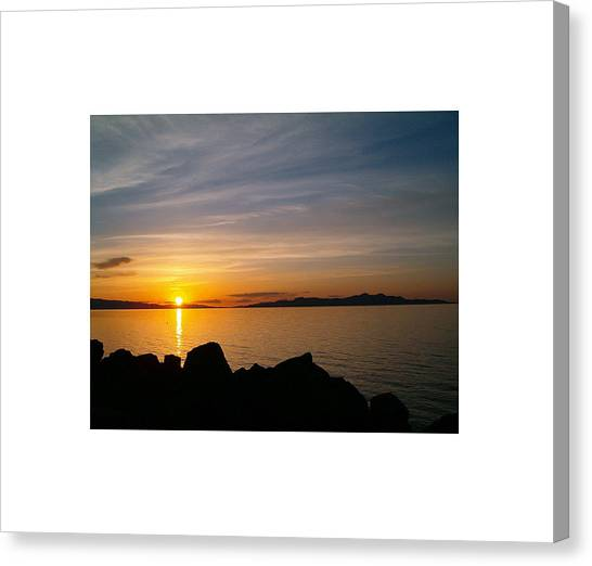 Salt Lake Sunset Canvas Print