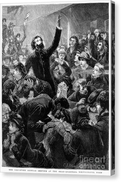 Salvation Army Canvas Print - Salvation Army, 1881 by Granger
