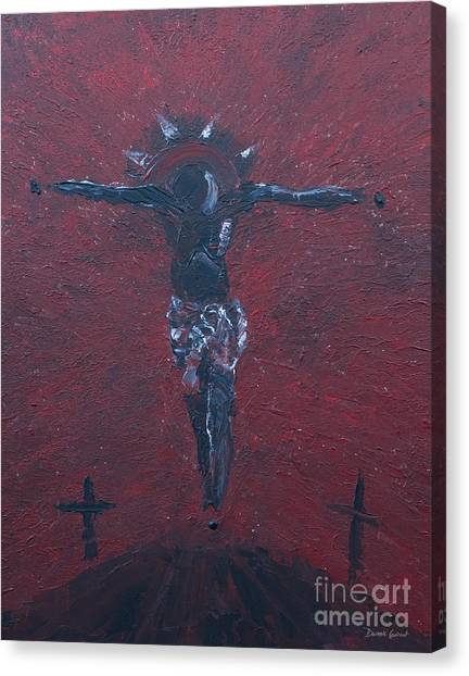 Canvas Print featuring the painting Salvation by Dwayne Glapion