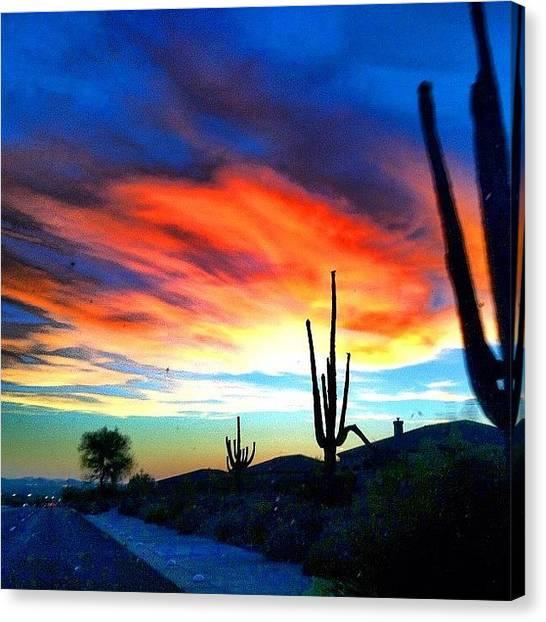 Arizona Canvas Print - Same Crazy Cloud. Different Location by John Schultz