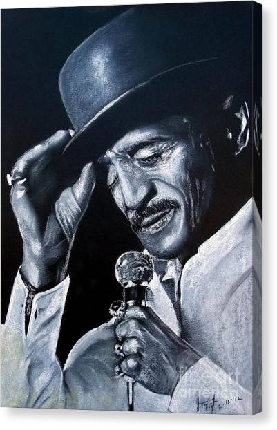 Tap Dance Canvas Print - Sammy Davis Jr by Jim Fitzpatrick