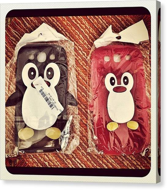 Penguins Canvas Print - Samsung S IIi Silicone Case by Styledeouf ®