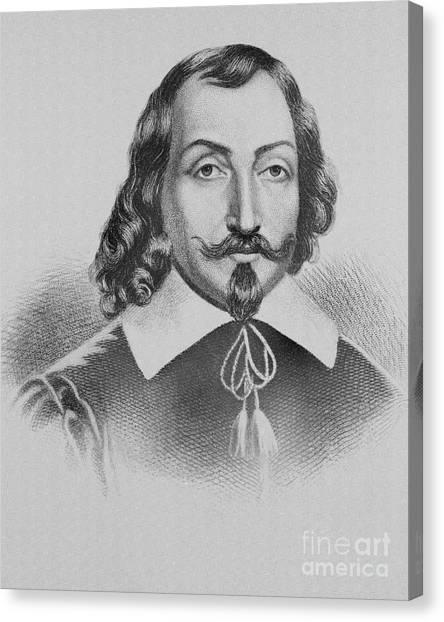 Hamels Canvas Print - Samuel De Champlain by Photo Researchers