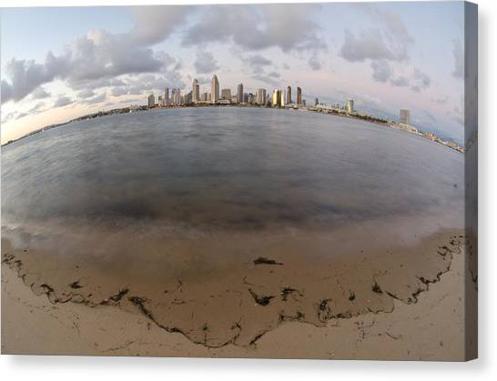 Canvas Print featuring the photograph San Diego Bay by Margaret Pitcher