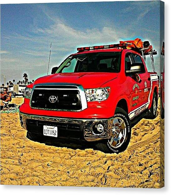 Firefighters Canvas Print - San Diego Fire-rescue  #sandiego by L Love