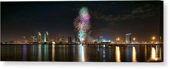 San Diego Summer Pops Fireworks 2012 Canvas Print
