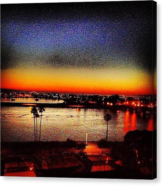 Marinas Canvas Print - San Diego Sunsets✌ by B C