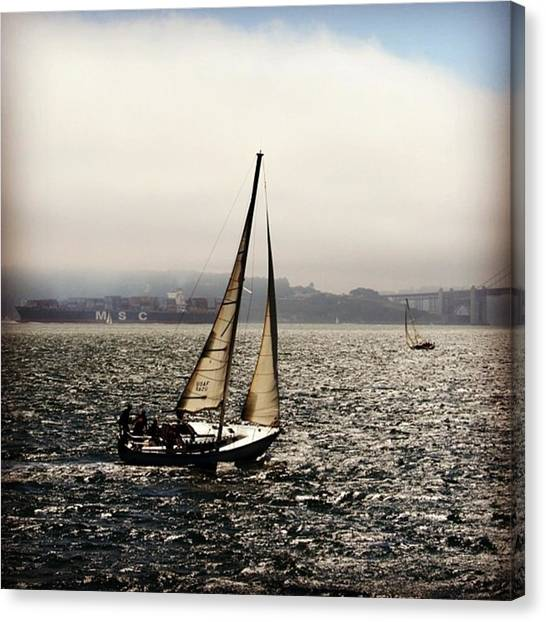 Beaches Canvas Print - San Francisco Bay by Luisa Azzolini