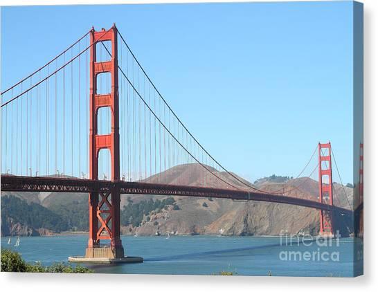 San Francisco Golden Gate Bridge . 7d7802 Canvas Print by Wingsdomain Art and Photography