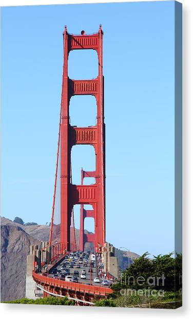 San Francisco Golden Gate Bridge . 7d8146 Canvas Print by Wingsdomain Art and Photography