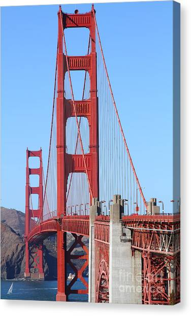San Francisco Golden Gate Bridge . 7d8164 Canvas Print by Wingsdomain Art and Photography