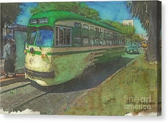 San Francisco Street Car Canvas Print by Jerry Grissom