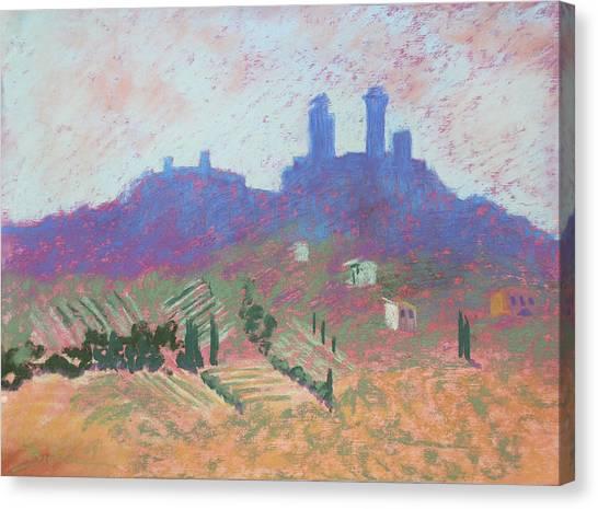 San Gimignano Canvas Print by Janet Biondi