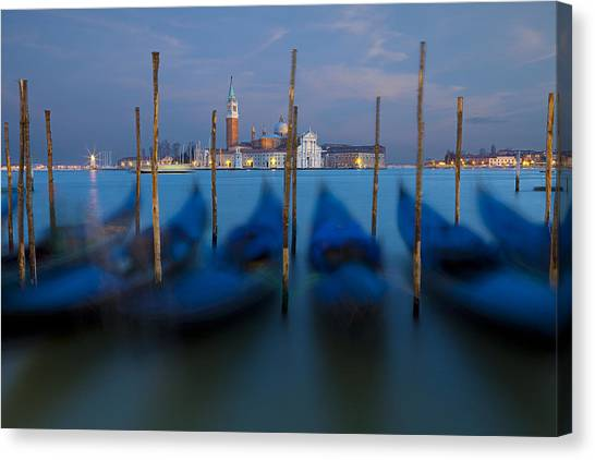 San Giorgio Maggiore With Twilight Sky Canvas Print