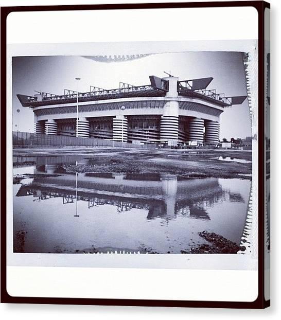 Stadiums Canvas Print - San Siro, La Scala Del Calcio by Ale Romiti 🇮🇹📷👣