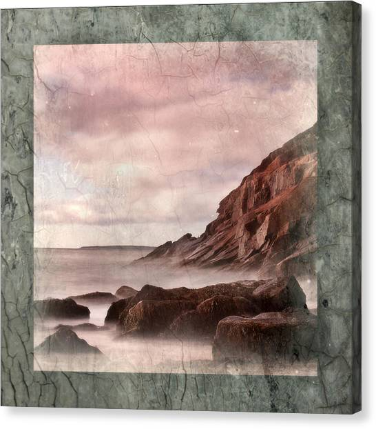 Sand Beach In Texture Canvas Print by Don Powers