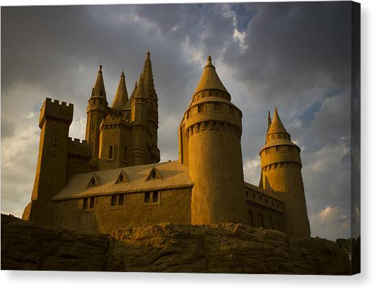 Sand Castle Horizontal Canvas Print