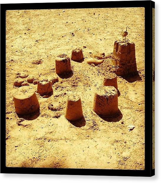 Sand Castles Canvas Print - Sand Castles by Emily Smith