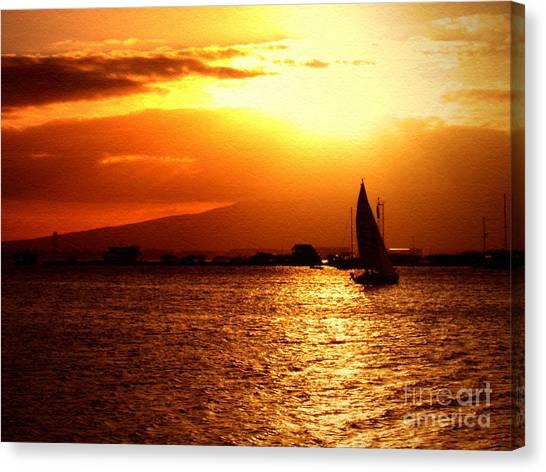 Sand Island Sunset 1 Canvas Print