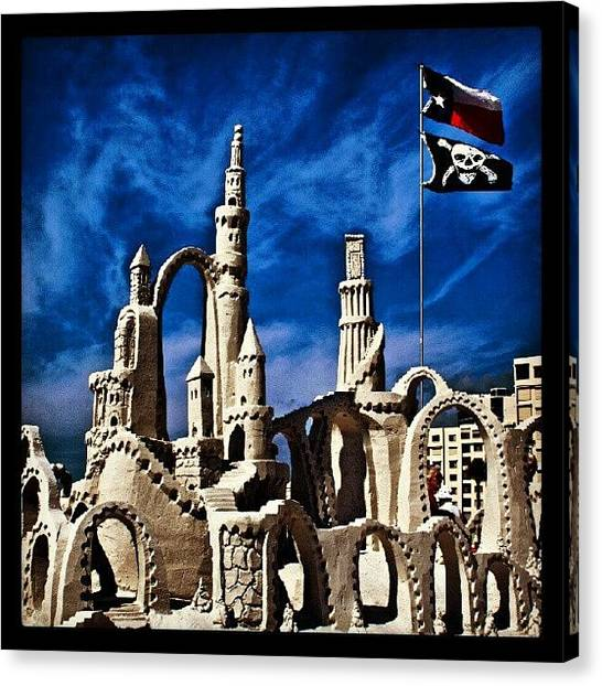 Sand Castles Canvas Print - Sand Sculpting Competition At Fort by Troy Thomas