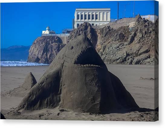 Shark Teeth Canvas Print - Sand Shark At Cliff House by Garry Gay