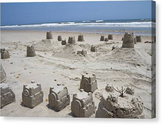 Sand Castles Canvas Print - Sandcastle by Betsy Knapp