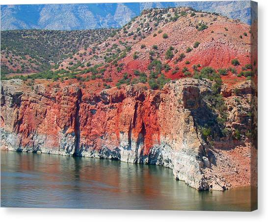 Sandstone And The Sea Canvas Print