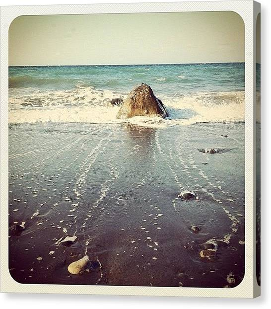 Salt Canvas Print - Sand.water.sky by K Rockz