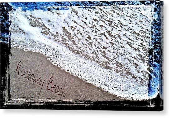 Sandwriting Canvas Print