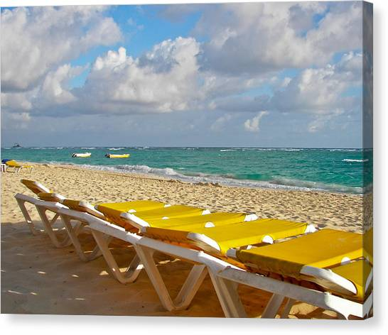 Sandy Beach  Canvas Print