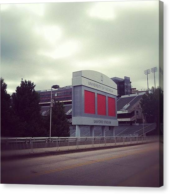 Athens Canvas Print - Sanford Stadium by Erin Egan