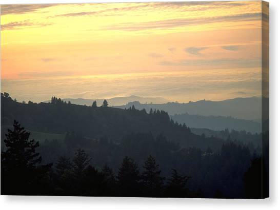 Santa Cruz Mountains Canvas Print