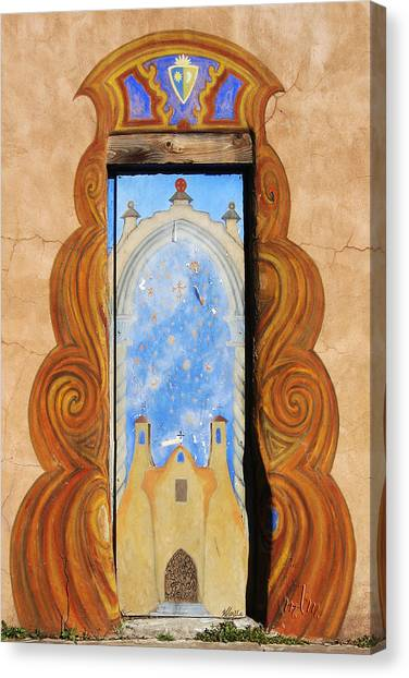 Santa Fe Doorway Canvas Print