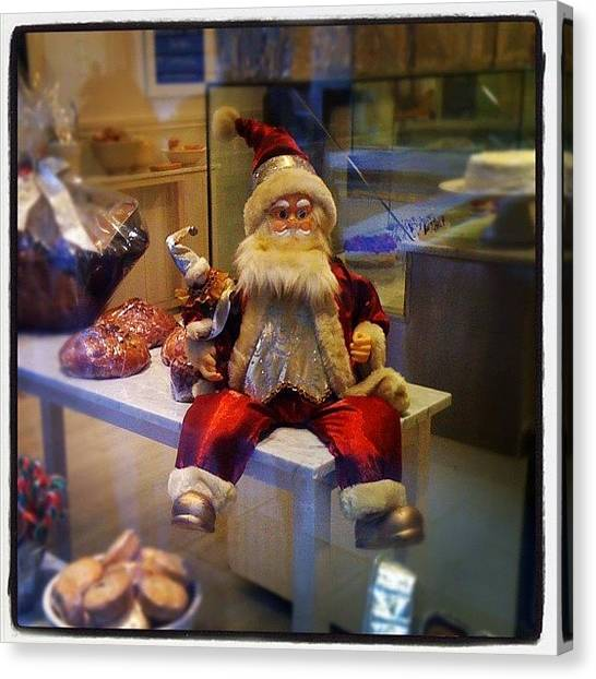 Bakeries Canvas Print - Santa Is Waiting For Christmas by Diego Jolodenco